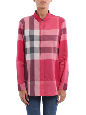 Burberry: shirts online - Cotton chequered shirt