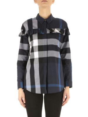 Burberry: shirts online - Frilled cotton shirt