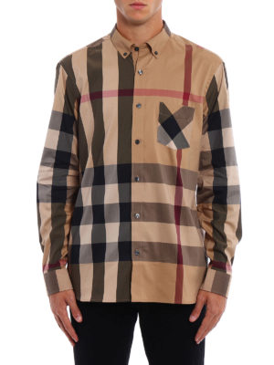 Burberry: shirts online - House Check cotton blend shirt