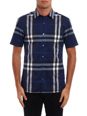 Burberry: shirts online - Nelson Check pattern shirt