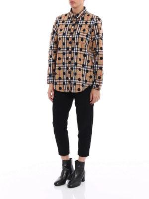 Burberry: shirts online - Polka-dot check cotton pajama shirt