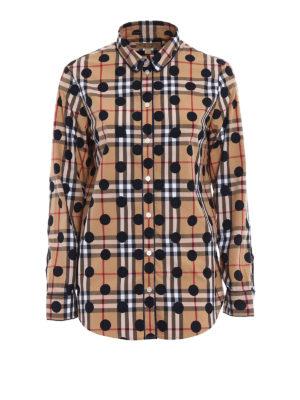 Burberry: shirts - Polka-dot check cotton pajama shirt