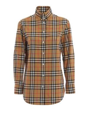 BURBERRY: camicie - Camicia Starling in classico cotone scozzese