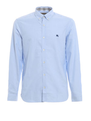 Burberry: shirts - Strangford cotton b/d shirt