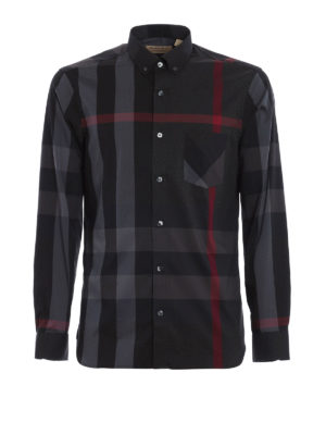 Burberry: shirts - Thornaby chequered shirt