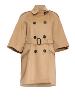 Burberry: short coats - Cape-style wool and cashmere coat