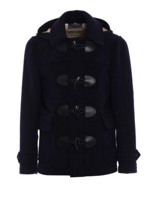 Burberry: short coats - The Plymouth navy duffle coat