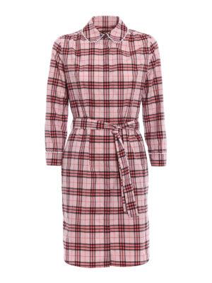 Burberry: short dresses - Agna tartan print shirt dress