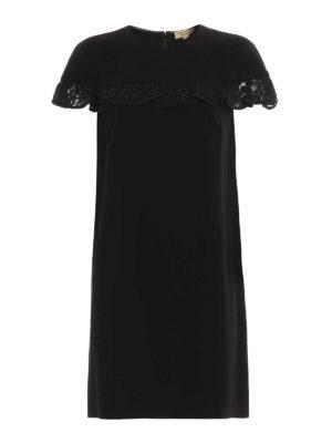 Burberry: short dresses - Enza lace ruffle shift dress