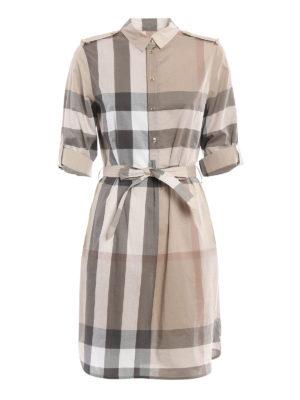 Burberry: short dresses - Kelsy shirt dress