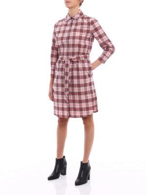 Burberry: short dresses online - Agna tartan print shirt dress