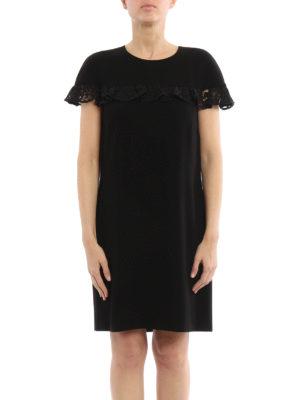 Burberry: short dresses online - Enza lace ruffle shift dress