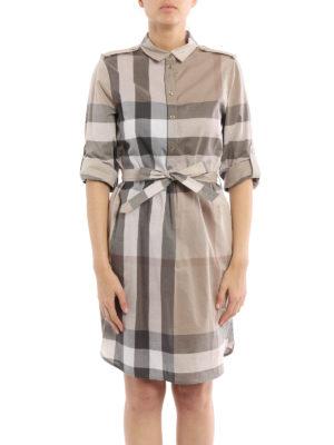 Burberry: short dresses online - Kelsy shirt dress