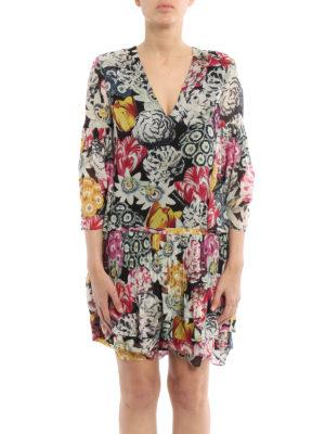 Burberry: short dresses online - Ruth multicolour print silk dress