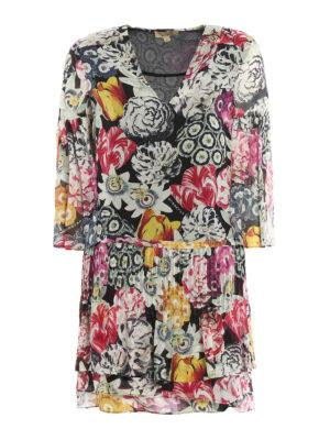 Burberry: short dresses - Ruth multicolour print silk dress