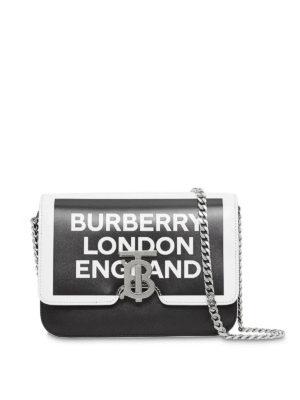 d3c0d82e11 BURBERRY: borse a spalla - Piccola borsa TB con logo in pelle bicolore