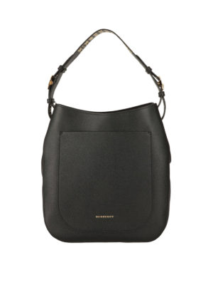 Burberry: shoulder bags - Studded leather shoulder bag