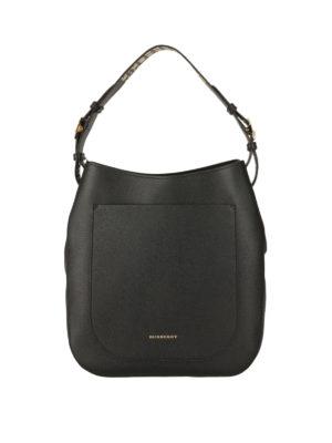 Burberry: shoulder bags - Studded leather shoulder bag