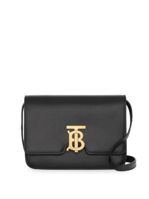 BURBERRY: shoulder bags - TB black leather small bag