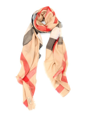 Burberry: Stoles & Shawls - Check print squared shawl