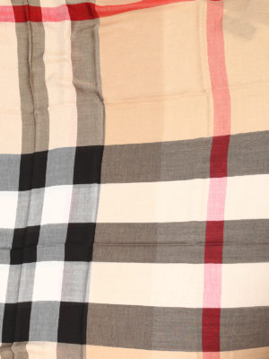 Burberry: Stoles & Shawls online - Check print squared shawl
