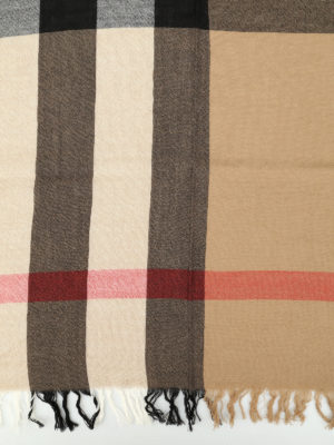 Burberry: Stoles & Shawls online - House Check merino wool shawl