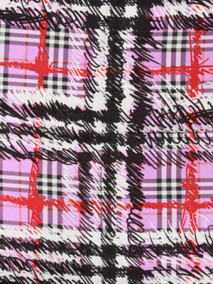 Burberry: Stoles & Shawls online - Scribble print squared silk shawl