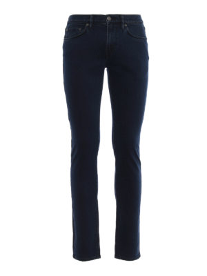 Burberry: straight leg jeans - Slim over-dyed jeans