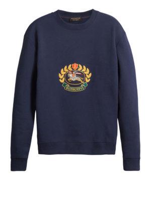 BURBERRY: Felpe e maglie - Felpa con stemma archivio ricamato
