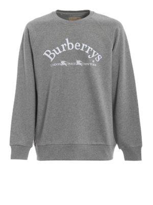 BURBERRY: Felpe e maglie - Felpa Battarni con ricamo Burberrys