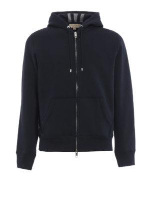 Burberry: Sweatshirts & Sweaters - Check hood lining sweatshirt