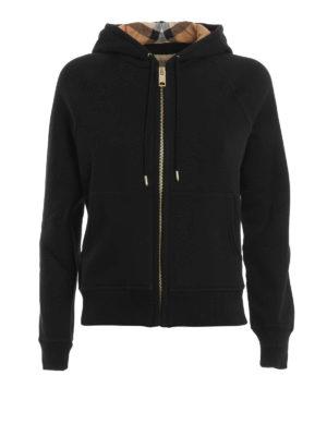 Burberry: Sweatshirts & Sweaters - Check hood sweatshirt