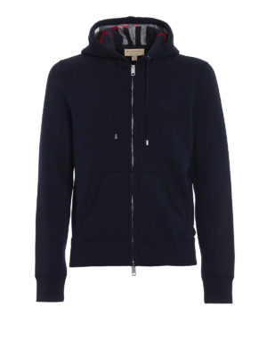 Burberry: Sweatshirts & Sweaters - Cotton jersey zipped hoodie