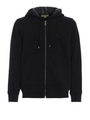 BURBERRY: Felpe e maglie - Felpa Fordson con zip e cappuccio