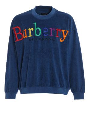 BURBERRY: Felpe e maglie - Felpa in spugna con Burberrys multicolore