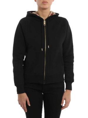 Burberry: Sweatshirts & Sweaters online - Check hood sweatshirt