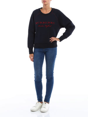 Burberry: Sweatshirts & Sweaters online - Embroidered logo cotton sweatshirt