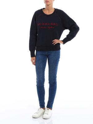 Burberry: Sweatshirts & Sweaters online - Embroidered logo cotton sweatshirt