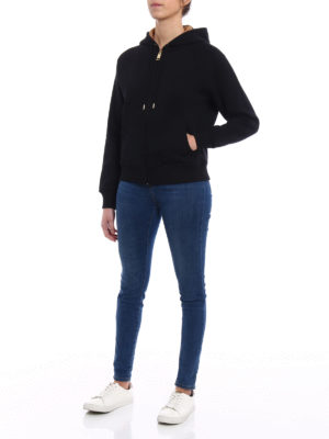 Burberry: Sweatshirts & Sweaters online - Lined front black cotton hoodie