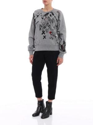 Burberry: Sweatshirts & Sweaters online - Printed sketches grey sweatshirt