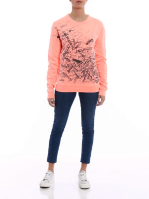 Burberry: Sweatshirts & Sweaters online - Rennie sketch logo print sweatshirt