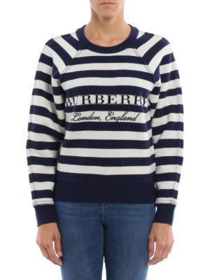 Burberry: Sweatshirts & Sweaters online - Selune wool and cashmere sweatshirt