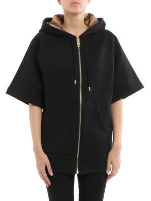 Burberry: Sweatshirts & Sweaters online - Short sleeve over fitting hoodie