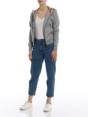 Burberry: Sweatshirts & Sweaters online - Tartan lined hood zipped sweatshirt