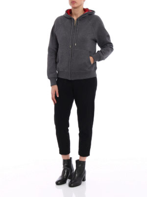 Burberry: Sweatshirts & Sweaters online - Tartan lined zipped hoodie