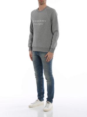 Burberry: Sweatshirts & Sweaters online - Taydon embroidered logo grey sweat
