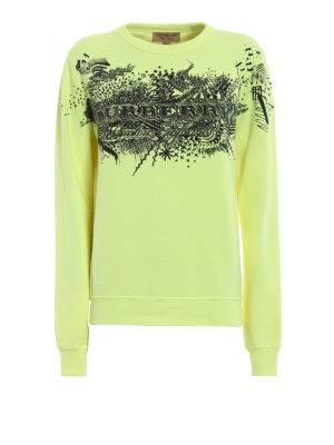 Burberry: Sweatshirts & Sweaters - Sauer printed sketches sweatshirt
