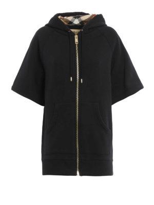 Burberry: Sweatshirts & Sweaters - Short sleeve over fitting hoodie