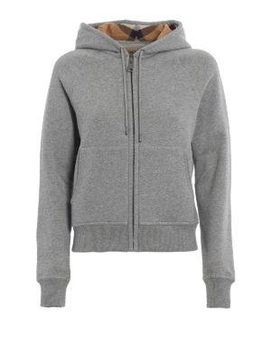 Burberry: Sweatshirts & Sweaters - Tartan lined hood zipped sweatshirt