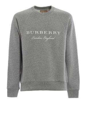 Burberry: Sweatshirts & Sweaters - Taydon embroidered logo grey sweat